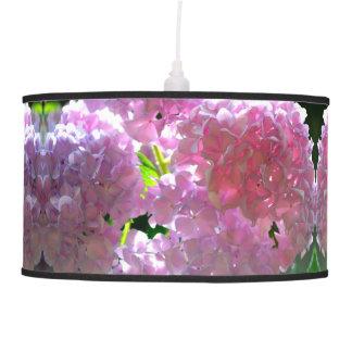 radiant pink hydrangea pendant lamp
