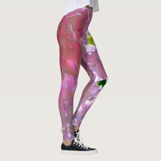 Radiant pink Hydrangeas Leggings