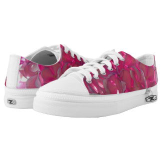 Radiant Pink Hydrangeas Low-Top Sneakers