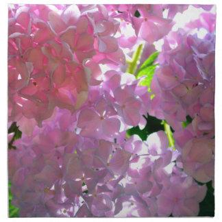 Radiant Pink hydrangeas Napkin