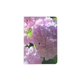 Radiant Pink Hydrangeas Passport Holder