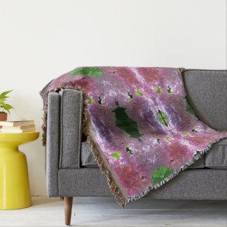 Radiant Pink Hydrangeas Throw Blanket