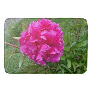 Radiant Pink Peony Bath Mat