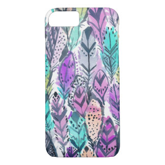 Radiant Purple Boho Feathers Case-Mate iPhone Case