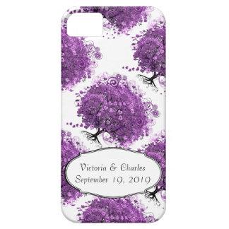 Radiant Purple Heart Leaf Tree Wedding iPhone 5 Cover