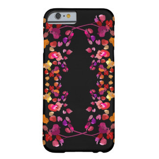 Radiant Red Orange and Purple Floral Pattern Barely There iPhone 6 Case