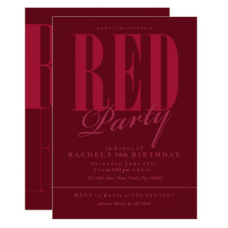 Radiant Red Party Invitations