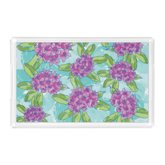 Radiant Rhododendron Acrylic Tray