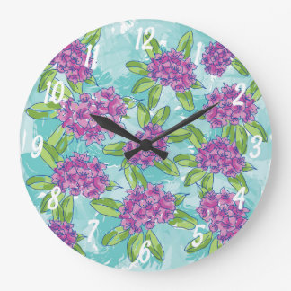 Radiant Rhododendron Wall Clock