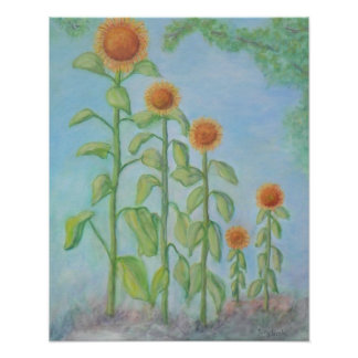 RADIANT SUNFLOWERS Poster
