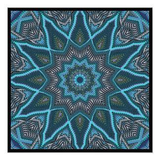 Radiating Blues Photographic Print