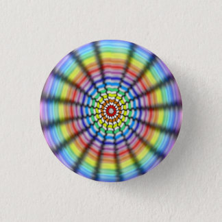 Radiating Flower 1 Inch Round Button
