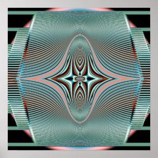 radiating waves poster