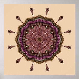 Radiating Weave Mandala Poster