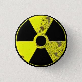Radiation 1 Inch Round Button