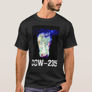 Radiation Cloaked Glowing Cow Head T-Shirt