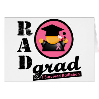 Radiation Grad BREAST CANCER Greeting Card