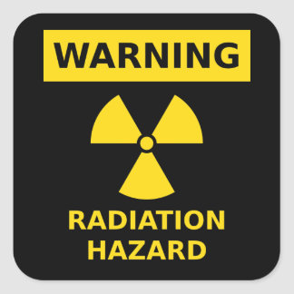 Radiation Hazard Sticker