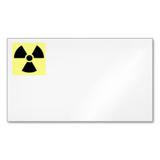 Radiation Sign Business Cards