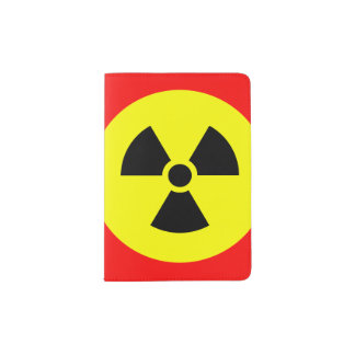 Radiation Sign Custom Passport Holder