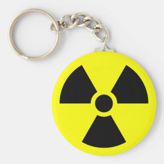Radiation Sign Keychain