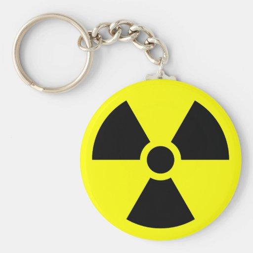 Radiation Sign Keychains