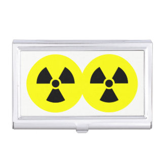 Radiation Signs Business Card Holder