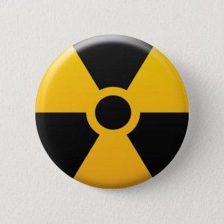 Radiation Symbol 2 Inch Round Button