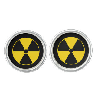 Radiation Symbol Cufflinks