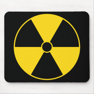Radiation Symbol Mouse Pad