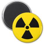 radiation symbol refrigerator magnet