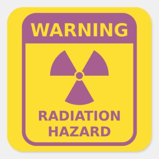Radiation Warning Sign Sticker