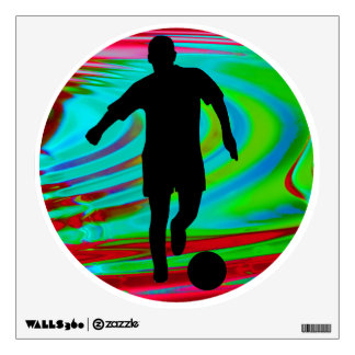 Radical Rainbow Soccer Kick Wall Decal