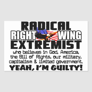 Radical Right Wing Extremist Sticker