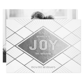 Radient Deco Joy Hanukkah Photo Card