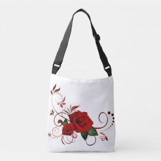 Radient Red Roses Crossbody Bag