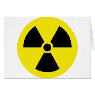 radio active atom energy greeting card