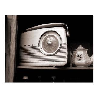 Radio and Teapot Postcard