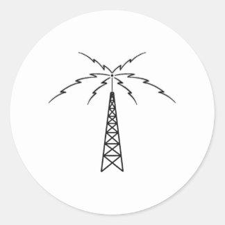 Radio Antenna Classic Round Sticker