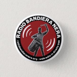radio bandiera nera 1 inch round button