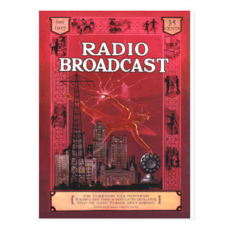 Radio Broadcast-Red Postcard