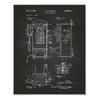 Radio Construction 1959 Patent Art Chalkboard Poster