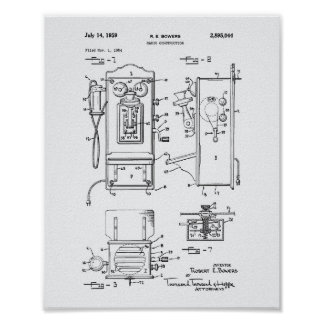 Radio Construction 1959 Patent Art White Paper Poster