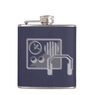 Radio design hip flask