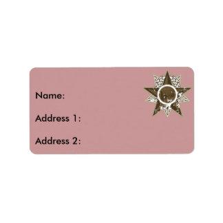 Radio en étoile étiquette d'adresse