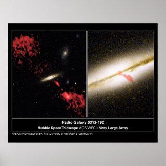 Radio Galaxy 0313192 Hubble Telescope Poster