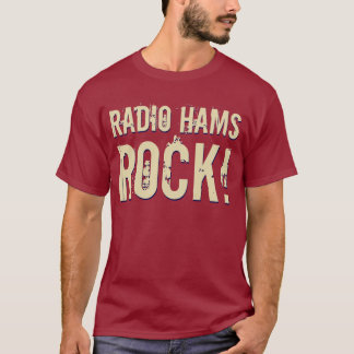 'Radio Hams Rock!' Mens T-Shirt (Dark)