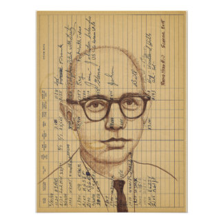 Radio Head 10 Contemporary Pen and Ink Portrait Poster