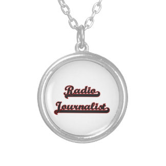 Radio Journalist Classic Job Design Silver Plated Necklace