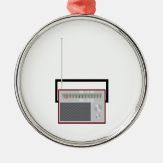 Radio Metal Ornament